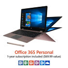 "13.3"" Convertible Touchscreen Laptop Windows 10 Office 365 1-Year Subscription"