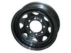 """*2* 16"""" Steel Trailer Wheels Black Spoke 8-6.5"""