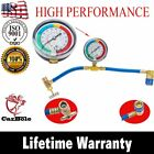 R134a Recharge Measuring Hose Gauge Adapter System A/C Refrigerant Charging Pipe