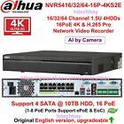Dahua NVR5416/5432-16P-4KS2E 16/32CH 16PoE 4K H.265 1.5U Pro NVR 4SATA III Onvif