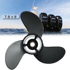 For Tohatsu Nissan Mercury 4-6HP 3R1W64516-0 Aluminum Outboard Propeller 7.8 x 8