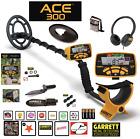 Garrett ACE 300 Metal Detector Waterproof Coil, Headphones & Extras RETAIL $352