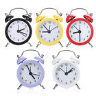 Classic Mini Double Bell Alarm Clock Quartz Movement Bedside Number Style Gifts
