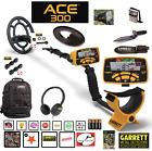 Garrett ACE 300 Metal Detector Waterproof Coil, Headphones & Extras RETAIL $422