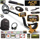 Garrett ACE 300 Metal Detector Waterproof Coil, Headphones & Extras RETAIL $552