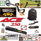 Garrett ACE 250 Metal Detector with Pro Pointer & Extras Package NEW Retail $502
