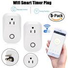 5x Mini Wifi Smart Plug Power Socket Timer Outlet Switch Remote Control US Plug