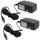 2 Pcs AC 5.5mm x 2.1mm DC 12V 1A US Power Supply Cord Cable Charger CCTV Camera