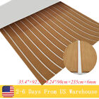 "EVA Teak Decking Sheet For Boat Yacht Marine Flooring Mat Brown 35.4""×92.5"""