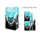 Voopoo Drag 157W Skin Sticker Protective Vape Mod Ghost Rider Sticker