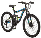 "Mountain Bike 24"" Mongoose Trail Blazer Adjustable Seat Aluminum Dual Suspension"