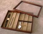 Toyooka Craft Wooden Wristwatch & Accessories Display Box SC94 NEW F/S