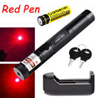 Military RED Dot 650mn Laser Visible Beam Pointer Pen + 18650 Battery + Charger