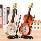 Vintage Children Gift Desk Decor Violin Design Ancient Alarm Clock