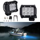 2PCS Spreader LED Deck/Marine Lights for Boat (Flood Light) 12V 18W White