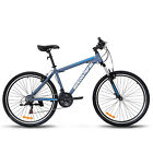 "27.5"" Men's Mountain Bike Shimano Hybrid 21 Speed Front Suspension Bicycle Blue"