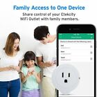 Etekcity 6 Pack Voltson Wi-Fi Smart Plug Mini Outlet with Energy Monitoring, No