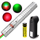 2in1 50Miles Green&Red Laser Pointer Lazer Pen + 18650 + Charger
