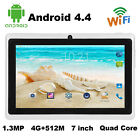 Q88 7 Inch Android 4.4 1.3MP Camera Quad Core WiFi G-Sensor Tablet 4GB+ 512MB