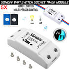 5X Remote Sonoff WiFi Wireless Home Smart Switch Module For IOS Android APP Ctrl