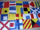 "MARITIME Signal Code FLAG Set - 100% COTTON  -Set of Total 26 flag - 15"" X 15"""