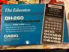 CASIO OVERHEAD CALCULATOR The Educator Mdl OH-260 NEW