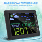 Wireless Color LCD Weather Clock Temperature & Humidity Meter Voice Control
