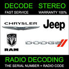 RADIO CODE  31 T00 AM, T00BE,TM9, TZ, TB   DIPLOMAT NEON SRT-4 STEREO CODES PIN