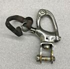 """Nicro Marine Attachable Stainless Steel Snap Shackle 2 3/4"""" Long 1/4"""" Pin Size"""