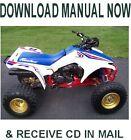 1989 Honda TRX250R Fourtrax factory repair service manual on CD
