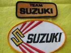 """Vintage Team Suzuki Motorcycle Patch set 3 5/8"""" X 1  1/2""""- 5"""" X 3"""""""