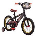 "Mongoose Boys 16"" WWE Kids Sidewalk Bike with Training Wheels Black R0662TR"