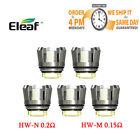 5pcs Eleaf HW-M 0.15ohm HW-N 0.2ohm Replacement Coils for IJust 3 ELLO Duro US