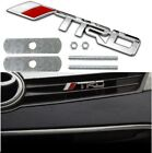 Bolt on 3D Metal CHROME TRD Front Emblem Badge For Grille Billet For Toyota