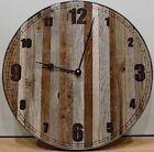 """18 inch (18"""") """"Baby Bear"""" Rustic Wall Clock * Narrow Slat Barn Wood Clock wit..."""