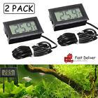 2PCS mini Digital LCD Thermometer for Aquarium Fridge FISH TANK Temperature