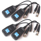 Lot CCTV Coax BNC Video Power Balun Transceiver to CAT5e 6 RJ45 Connector -QN08