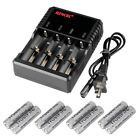 8PC Trustfire 3.7V Rechargeable 2500mAh Li-ion TR18650 Battery+ 1x4-Slot Charger
