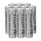 10PCS Trustfire 3.7V Rechargeable 2500mAh Li-ion 18650 Flashlight Battery