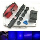 2 WATT BX6 450nm BURNING Blue Laser Pointer Lazer Torch Pen Cigarette Lighter