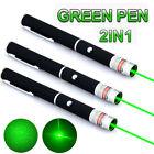 3PCS 532nm 2in1 Green Laser Pet Training Pointer Pen Ray Lazer + Star Cap
