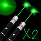 2-Pack 532nm Green Laser Cat Training Pointer Pen Beam Single Ray