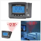 Indoor Atomic Projection Clock Snooze Button Bright Blue Momentary Backlight New