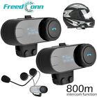 2 Sets Freedconn Bluetooth Motorcycle Helmet Interphone Intercom Headset FM B2I3