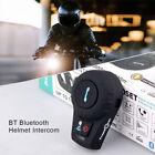 Full Duplex Bluetooth Motorcycle Helmet Interphone Intercom Headsets 500M FM Mp3