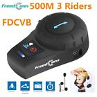 500M Bluetooth Motorcycle Helmet Interphone Intercom Soft Cable Headset 3 Rider
