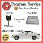 ✅ ECU ECM Computer KEY PROGRAMMING SERVICE | Lexus ES300 2002 2003 02 03