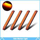 """4x 8"""" Led Marker Light Utility Strip Bar For 12V Truck Trailer Boat 18 Amber Led"""