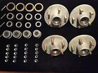"4x Boat Trailer Galvanized Hub Kit 5 Bolt 1-1/16"" x 1-3/8"" Bearing 3,500"