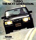 1983 SAAB 900  TURBO FACTORY BROCHURE -SAAB 900 APC TURBO-SAAB 900 TURBO